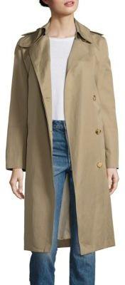 Helmut Lang Double Face Cotton & Linen Trench Coat $795 thestylecure.com