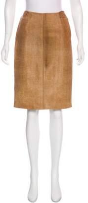 Ralph Lauren Black Label Knee-Length Pony Hair Skirt