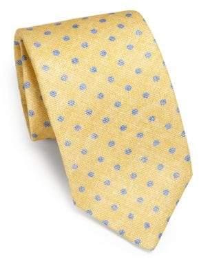 Isaia Faded Dot Linen Tie