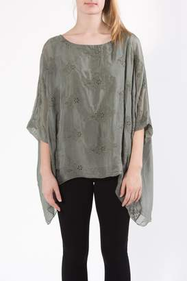 Catwalk Detailed Sage Top