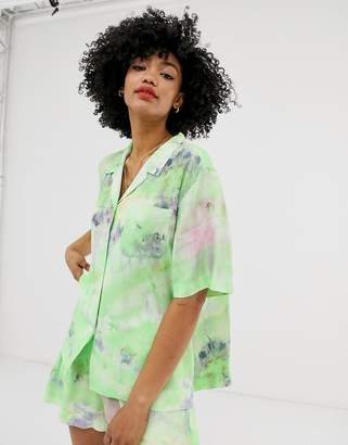 And other stories &  tie dye cropped shirt in green
