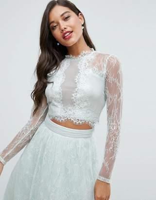 Asos Bridesmaid Lace Insert Top