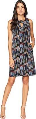 Nine West Women's Shift Dress with Side Panels & Front Pockets