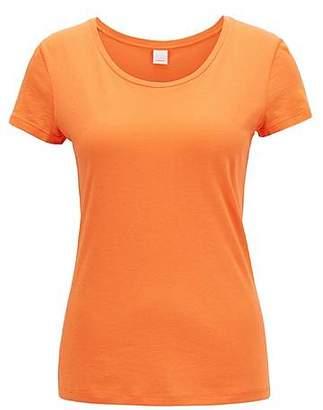 HUGO BOSS Scoop-neck jersey top in a pima-cotton blend