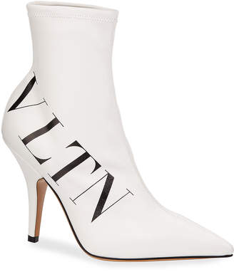VLTN Logo Point-Toe Sock Booties