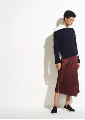 Vince Drape Panel Silk Skirt