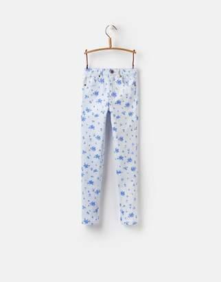 Joules Clothing Sky Blue Sun Stripe Linnet Printed Denim Jeans 32yr