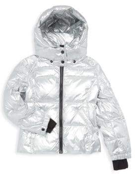 S13/Nyc Girl's Metallic Quilted Down Jacket