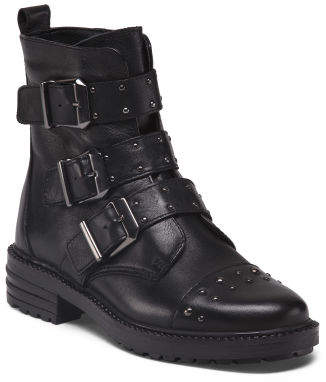 Made In Italy Moto Leather Booties