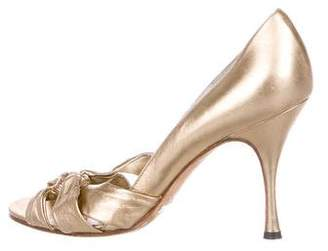Dolce & Gabbana Metallic Patent Leather Pumps