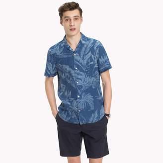 Tommy Hilfiger Tropical Print Linen Slim Fit Shirt