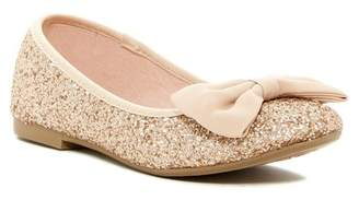 Harper Canyon CeeCee Glitter Bow Flat (Little Kid & Big Kid)