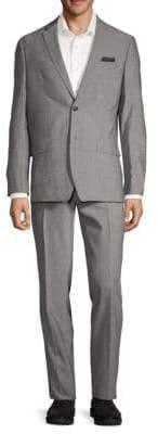 Ben Sherman Wool Blend Melange Suit
