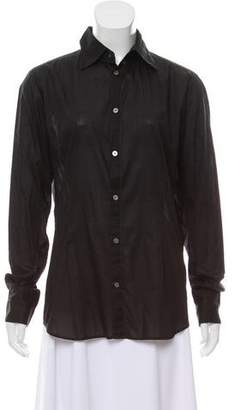 Diesel Black Gold Knit Button-Up Top