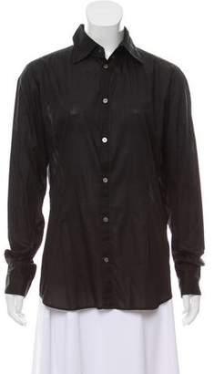 Diesel Black Gold Knit Button-Up Top
