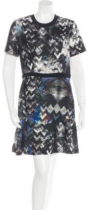 Sandro Trompe L'oeil A-Line Dress w/ Tags $125 thestylecure.com