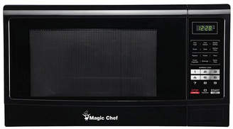 Magic Chef 1.6 Cubic Feet 1100W Countertop Microwave Oven with Push-Button Door