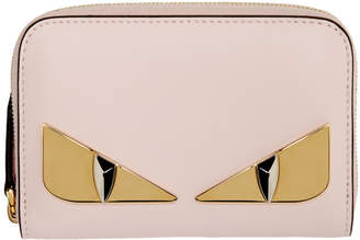 Fendi Pink Small Bag Bugs Zip-Around Wallet