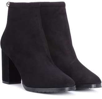 Aquazzura Albemarle 85 suede ankle boots