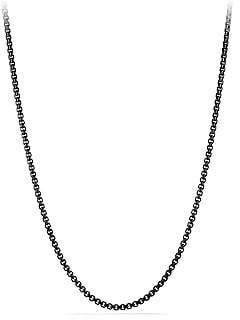 David Yurman Men's Chain Stainless Steel Box Necklace