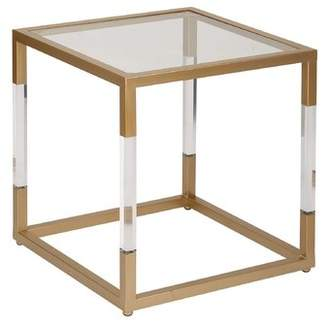 Cole & Grey Metal, Glass and Acrylic End Table