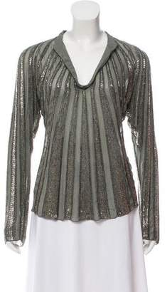 Tory Burch Silk Embellished Top w/ Tags