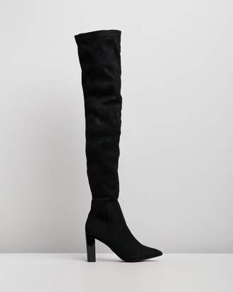 Missguided Pointed Toe Cup Over-the-Knee Boots