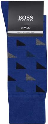 HUGO BOSS Triangle Socks (Pack of 2)