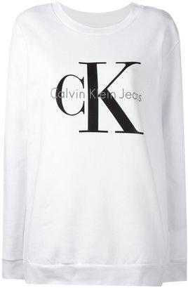 Calvin Klein Jeans logo print sweatshirt $102.52 thestylecure.com