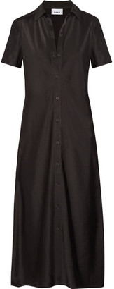 DKNY - Satin Shirt Dress - Black $300 thestylecure.com
