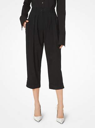 Michael Kors Wool-Serge Cropped Trousers