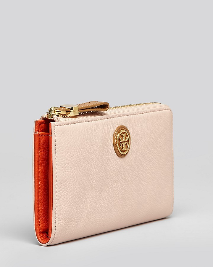 Tory Burch Wallet - Clay Zip Top Continental