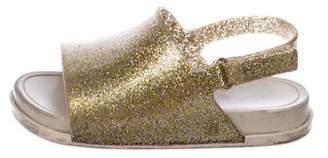 Mini Melissa Girls' Glitter Rubber Sandals