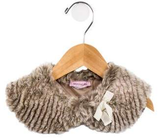 MonnaLisa Girls' Patterned Faux Fur Capelet