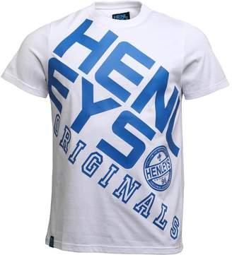 ara Henleys Mens T-Shirt White/Navy
