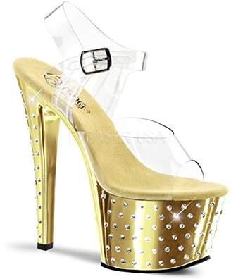 Pleaser USA Women's Stdus708/C/Gch Platform Dress Sandal