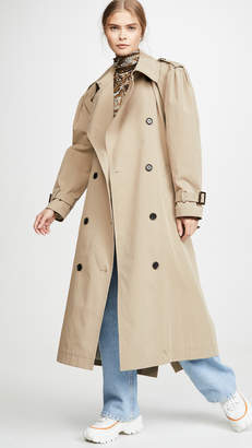pushBUTTON Back Point Trench Coat