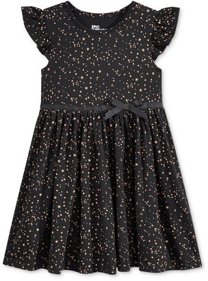 Epic Threads Little Girls' Metallic Star Babydoll Dress, Only at Macy's $26 thestylecure.com