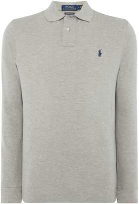 Polo Ralph Lauren Men's Custom Slim Fit Long Sleeve Mesh Polo