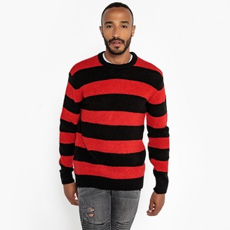 Mens Red And Black Striped Jumper Shopstyle Uk