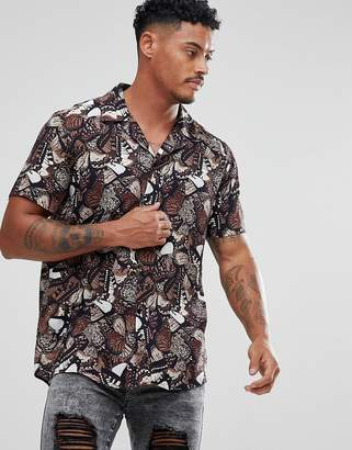 SikSilk Shirt In Butterfly Print