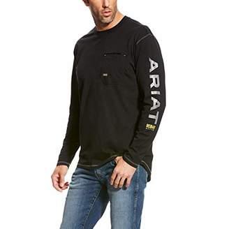 Ariat Men's Rebar Logo Long Sleeve Crew