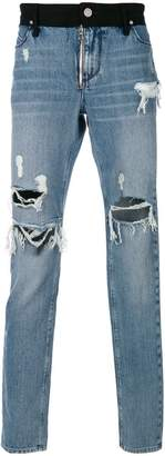 RtA regular fit distressed jeans