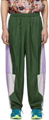 Keenkee Green and Purple 20 Panel Lounge Pants