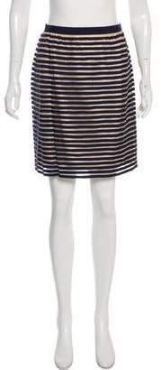 Lela Rose Striped Mini Skirt