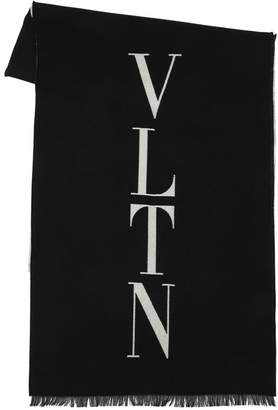 Valentino Logo Wool Scarf