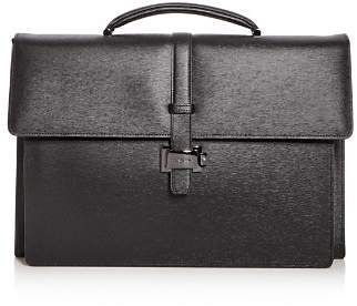Montblanc Double Gusset Embossed Leather Briefcase