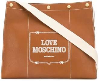Love Moschino printed logo tote