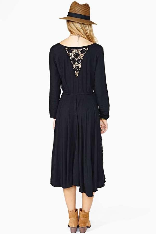 Nasty Gal Midnight Lily Maxi Dress