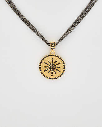 Rachel Reinhardt Starburst 14K Plated Black Spinel Necklace